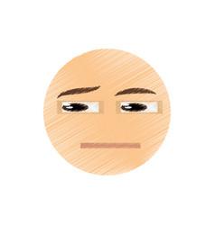 drawing think emoticon image vector image