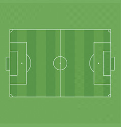 football or soccer field vector image