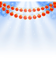 garland of Chinese lanterns vector image