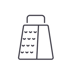 grater line icon sign on vector image