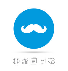 Hipster mustache sign icon barber symbol vector