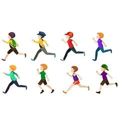 Kids running vector image