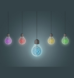 lightbulbs hang vector image vector image