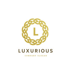 luxury logo crests logo logo design for hotel vector image