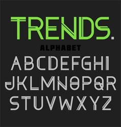 Modern alphabet trends vector
