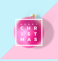pastel colors gentle christmas greeting card vector image vector image