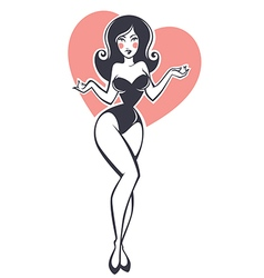 pinup girl vector image vector image