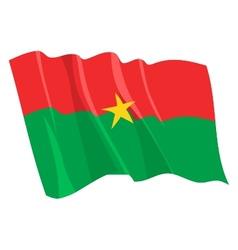 Political waving flag of burkina faso vector