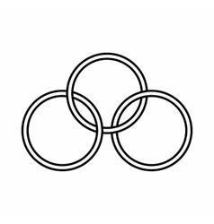 Ring in circus icon outline style vector image