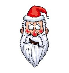 Santa claus confused head vector