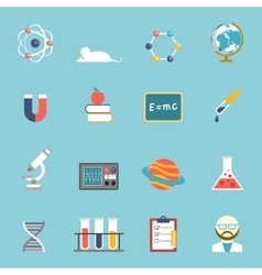 Science and research icon set vector