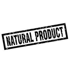 Square grunge black natural product stamp vector