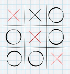 Tic tac toe game vector