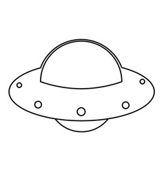 Ufo spaceship fly image outline vector