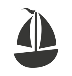 Sailboat boat isolated icon vector
