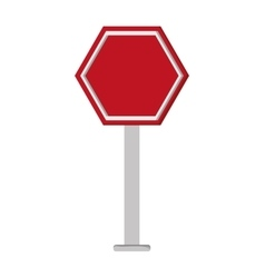 Red street sign icon vector