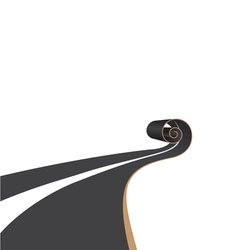 Road scroll vector