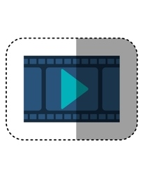 Isolated movie and filmstrip design vector