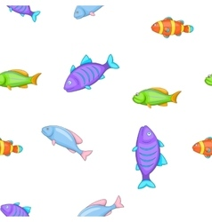 Species of fish pattern cartoon style vector
