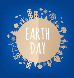 Earth day postcard vector