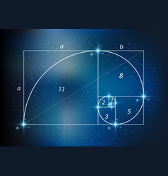 golden section ratio divine proportion vector image