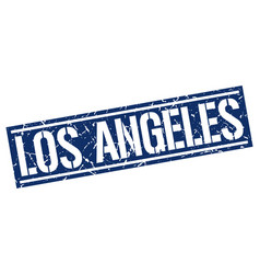 Los angeles blue square stamp vector