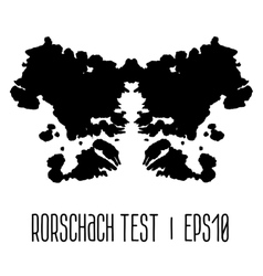 Rorschach inkblot test vector