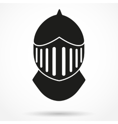 Silhouette symbol of knights helmet vector