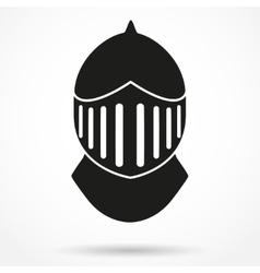 Silhouette symbol of knights helmet vector