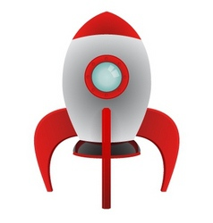 Cartoon rocket vector