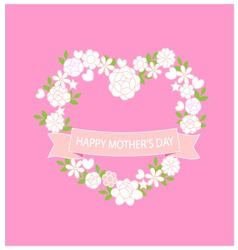 Card happy mother day vector