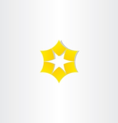 Star yellow logo icon vector