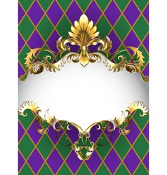 Luxury banner mardi gras vector
