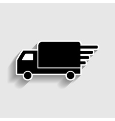 Delivery sign sticker style icon vector
