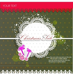 Paper bubbles for speech Christmas Sale vector image
