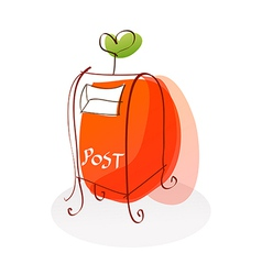 A post office is placed vector