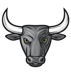 Black bull head vector