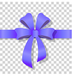 Blue holiday bow on transparent background vector