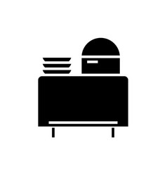 Buffet in restaurant icon vector