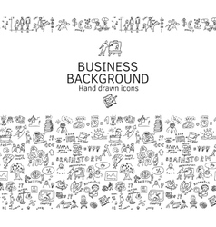 Business background doodles hand drawn black and vector image