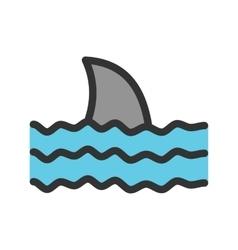 Dangerous shark vector