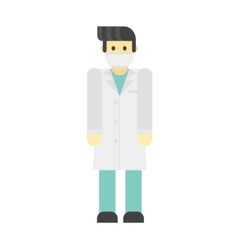 Dentist doctors character vector