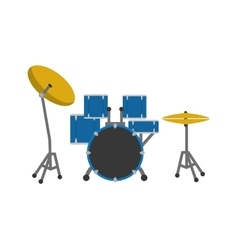 Drum instrument music sound icon graphic vector