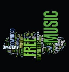 Free music downloads is it still a big deal text vector