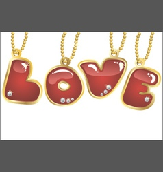 hanging word love vector image