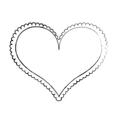 Heart love frame icon vector