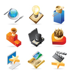 Icon concepts for media event vector image vector image