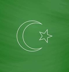 Islam computer symbol vector