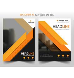 orange black brochure annual report leaflet vector image