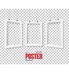Poster frame mockup set realistic vector